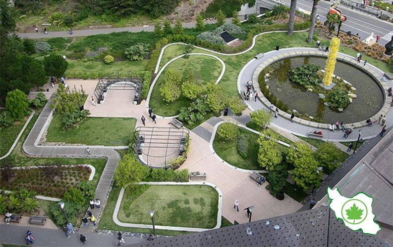 طراحی و اجرای فضای سبز پارک
