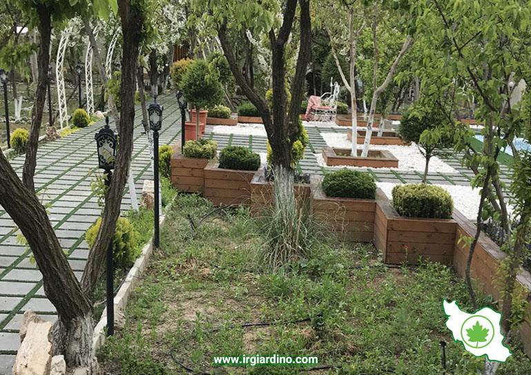 طراحی فضای سبز ویلا کردان