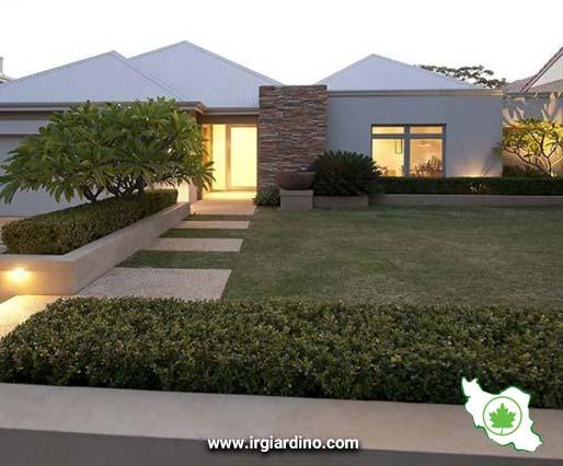 فضای سبز حیاط خانه