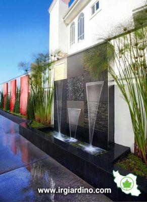 طراحی آبنما دیواری