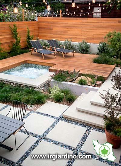 طراحی حیاط مینیمال