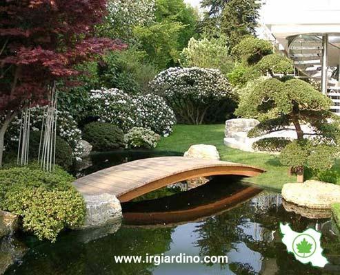 طراحی پل در باغ