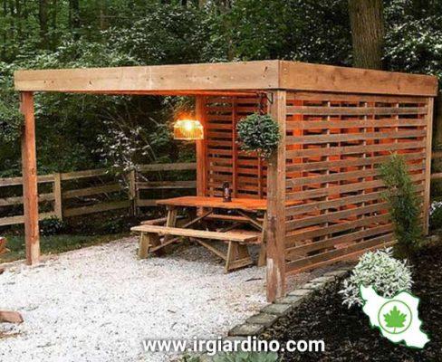 طراحی آلاچیق چوبی