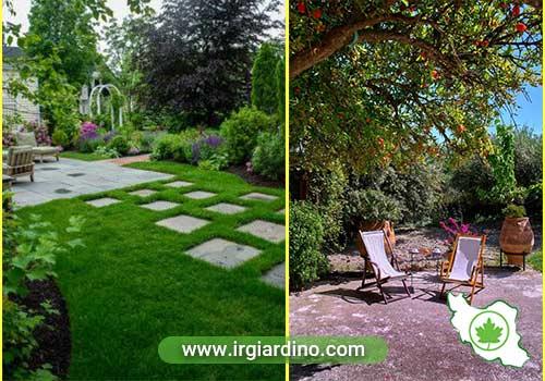 طراحی حیاط ویلا سنتی