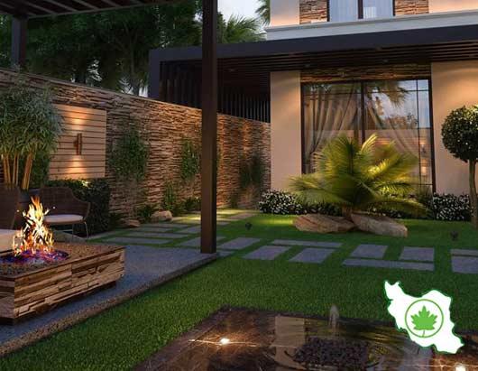 طراحی حیاط مدرن