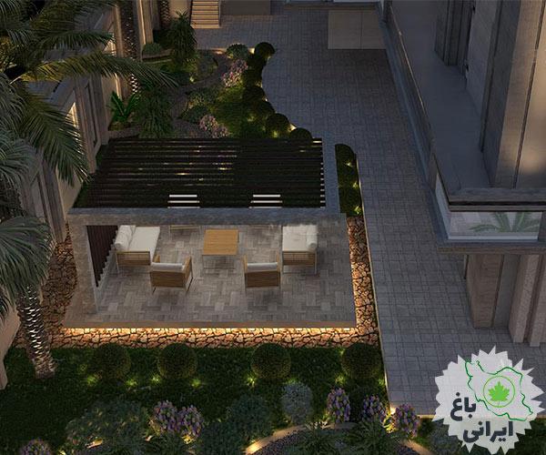 طراحی محوطه باغ ویلا