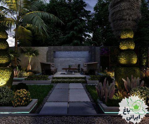 طراحی مدرن باغ ویلا