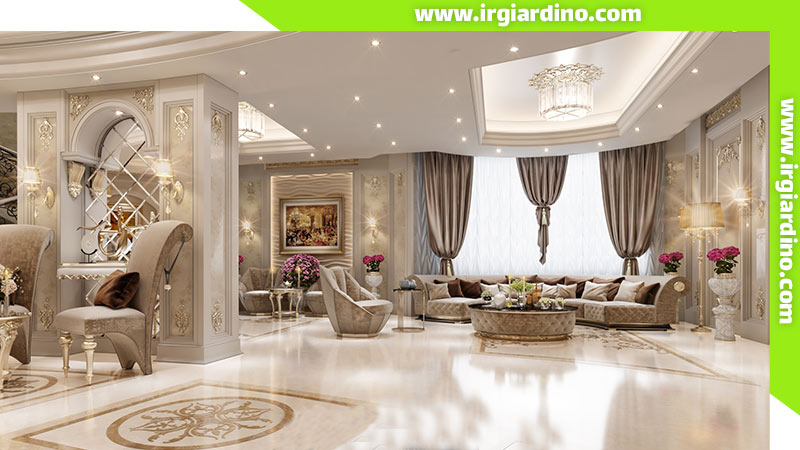 مولفه های طراحی داخلی ویلا کلاسیک